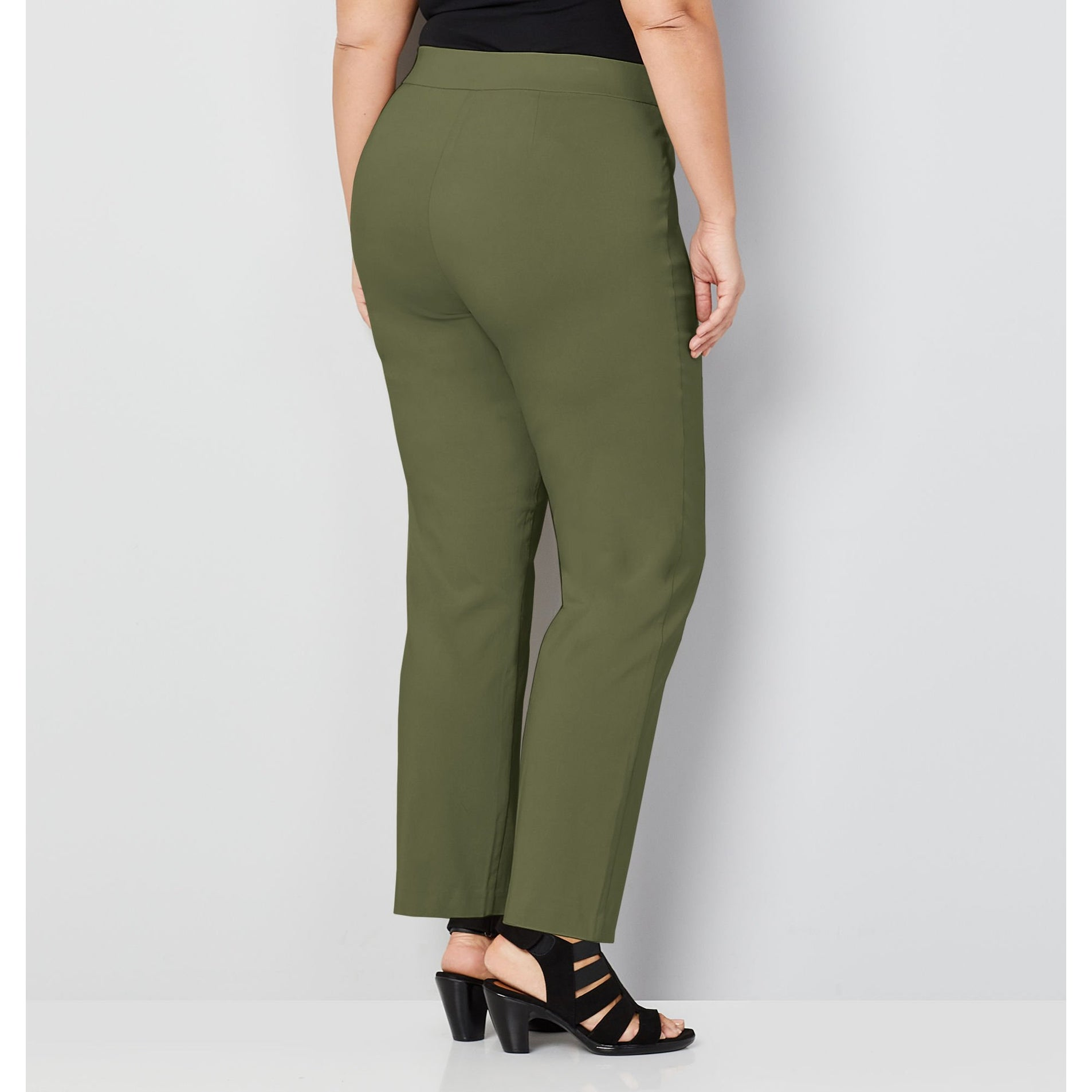 a1e83a926 Shop AVENUE Women s Super Stretch Pull-On Pant with Comfort Waist in Beetle  Green - Free Shipping On Orders Over  45 - Overstock - 27420788