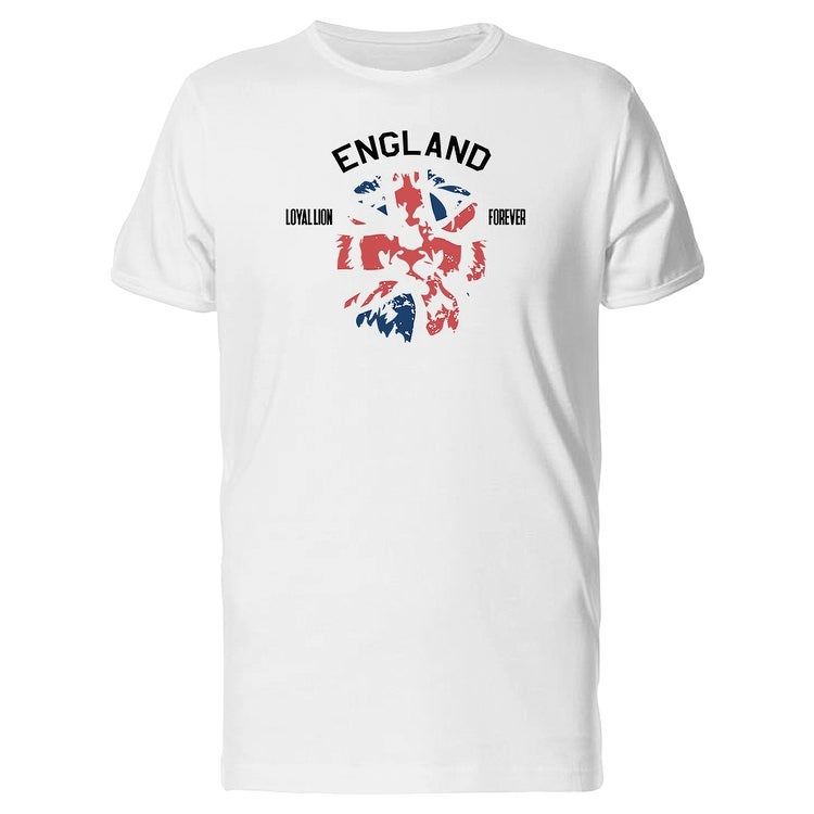 e3500d36 England Loyal Lion Forever Flag Colors Men's White T-shirt