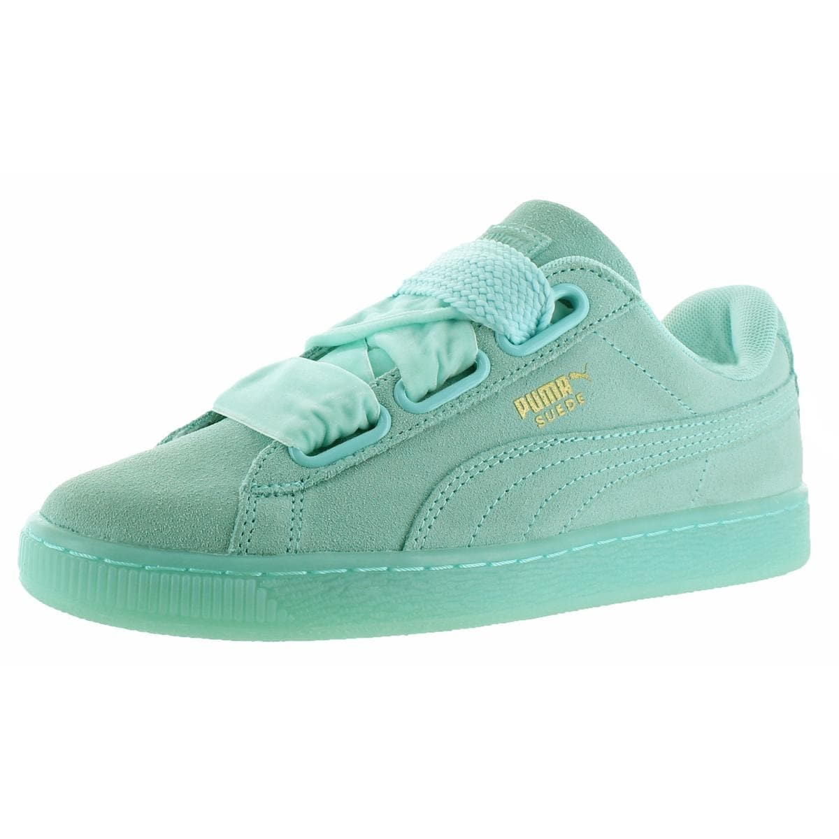 hot sale online a354e 5fcf2 Puma Womens Suede Heart Reset Fashion Sneakers Round Toe Casual