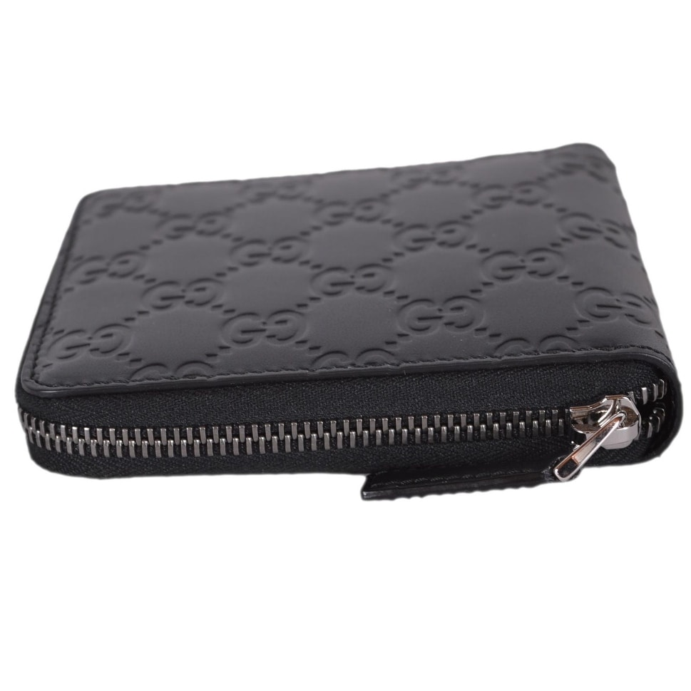 f321dbbaed22 Shop Gucci 473964 Black Leather GG Guccissima Zip Around Small Wallet - 5:  x 4