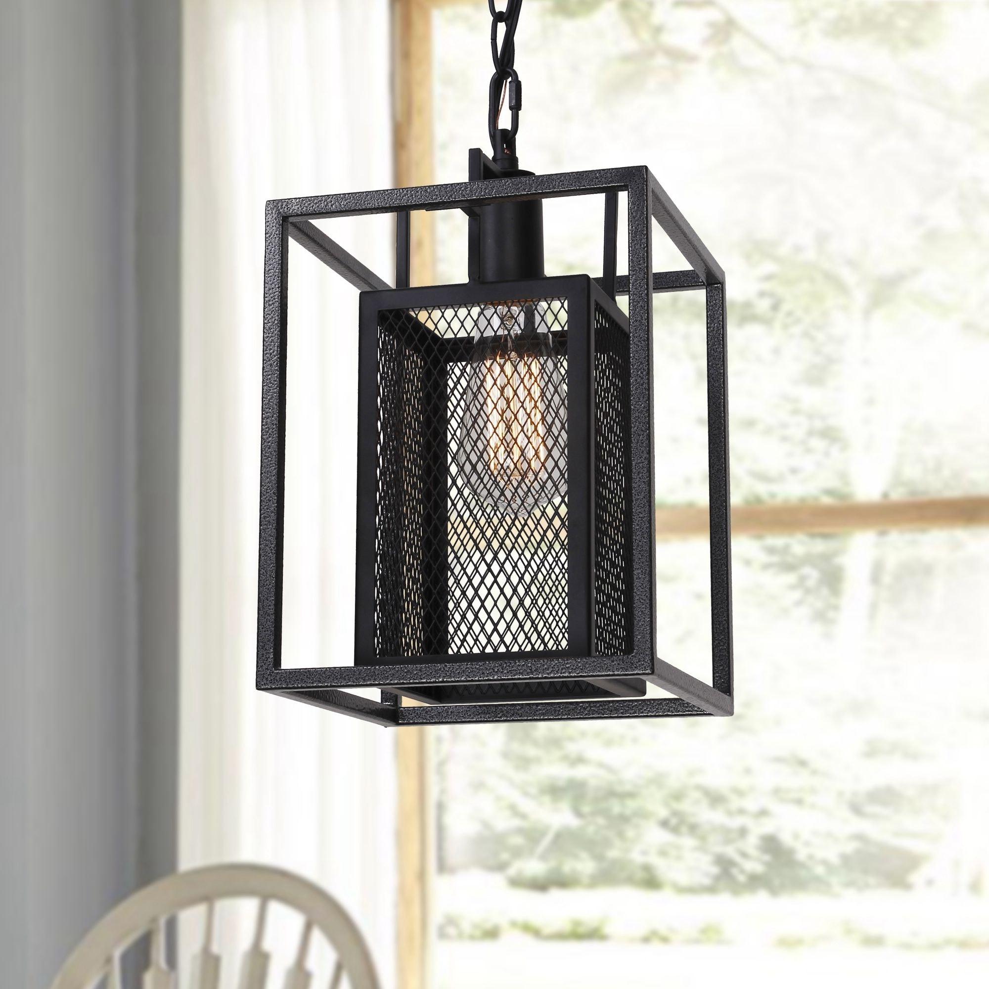 Shop Vintage Industrial Black Iron 1-Light Pendant Light for Kitchen ...