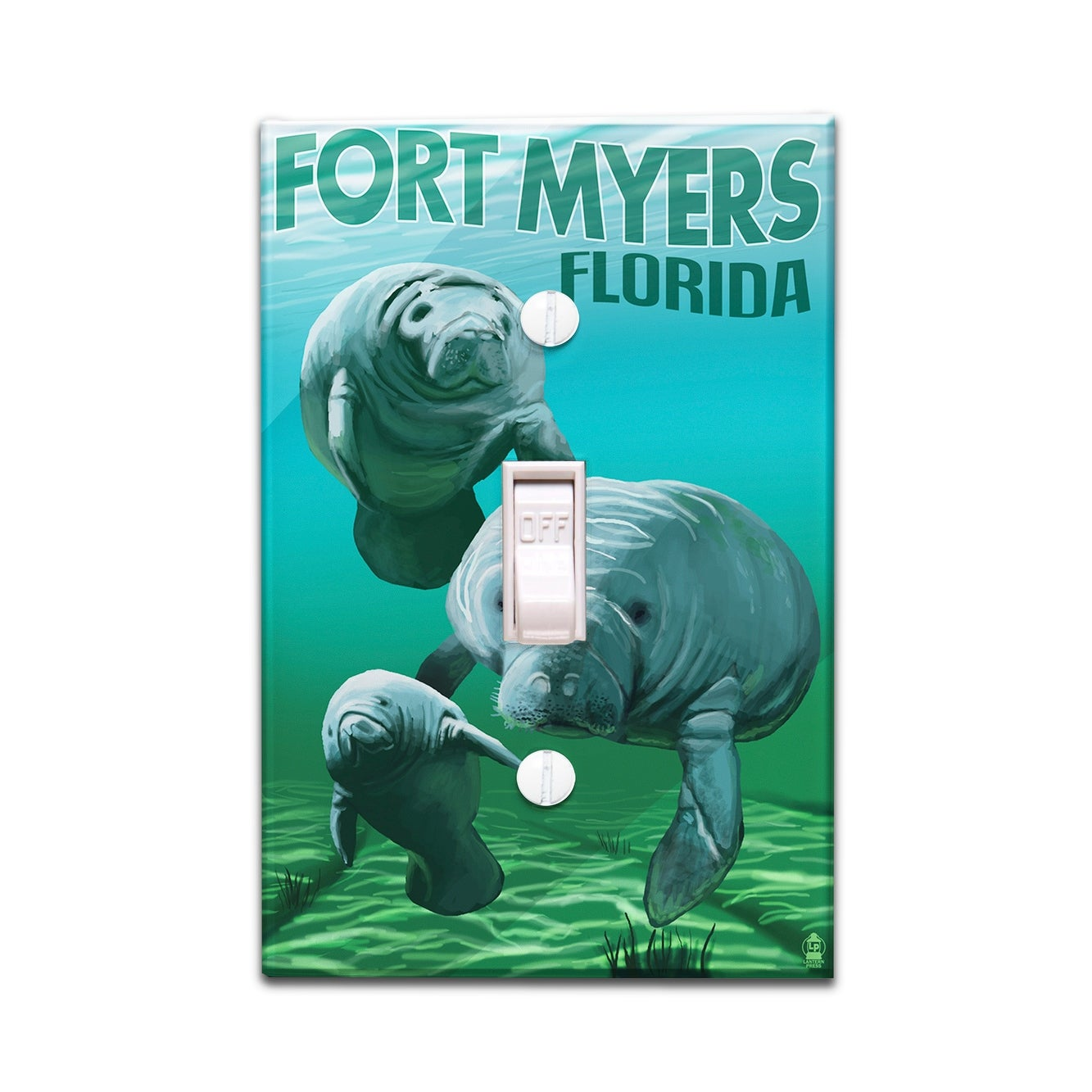 Shop Manatees - Fort Myers, Florida - LP Artwork (Light Switchplate ...