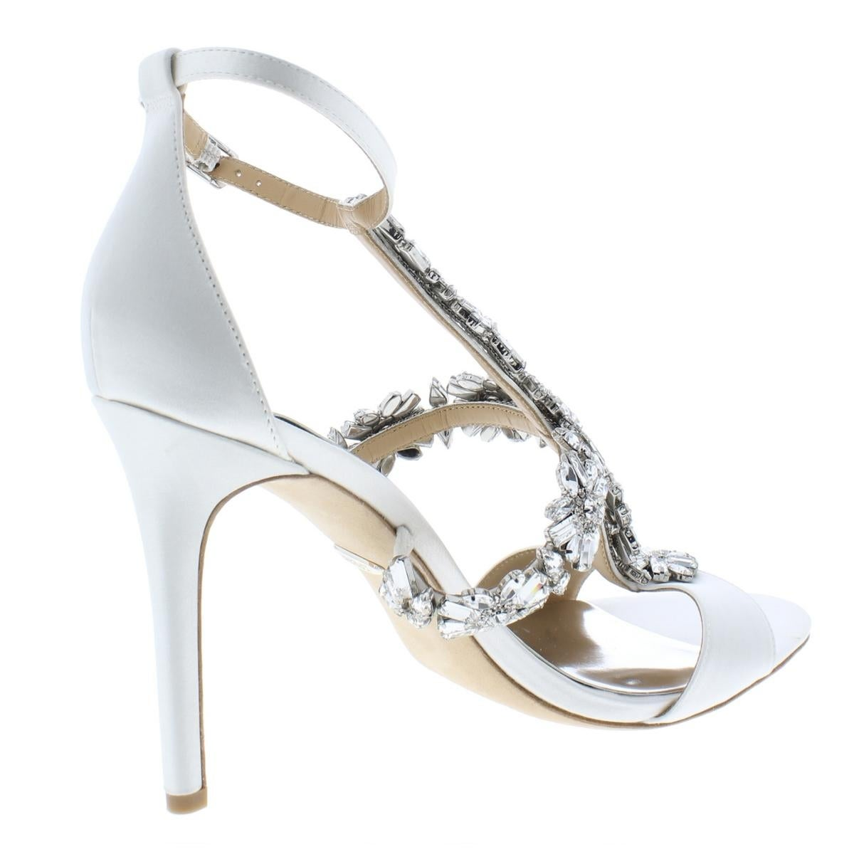 7cbe265c42a Shop Badgley Mischka Womens Munroe Evening Sandals Satin Heels - 7.5 Medium  (B