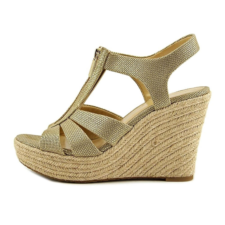 badb5ea09757 Shop Michael Kors Womens Berkley Platform Wedge Open Toe Casual Platform  Sandals - Free Shipping Today - Overstock - 22053451