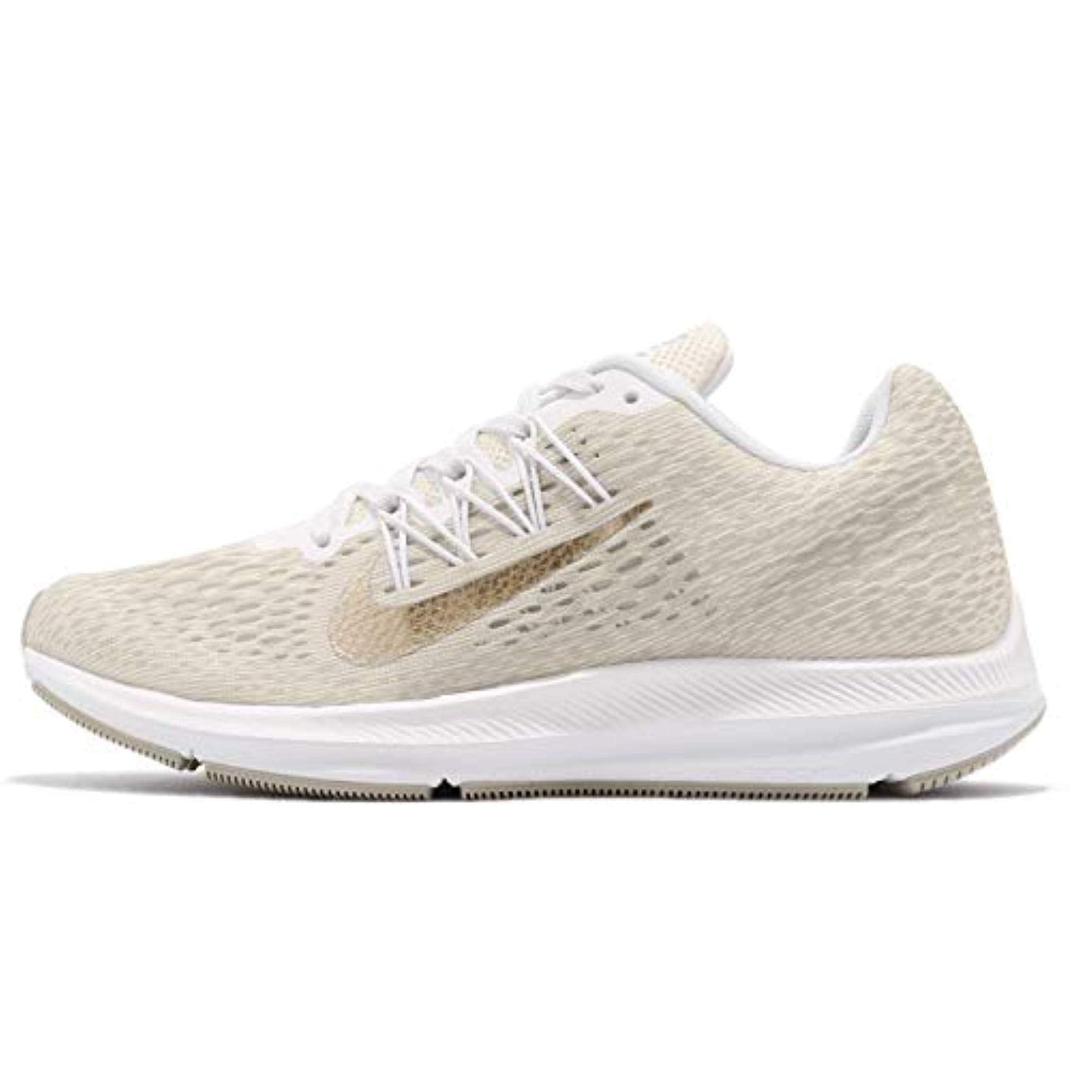 low priced dde50 ccc80 Shop Nike Women s Air Zoom Winflo 5 Running Shoe Phantom Metallic  Gold-String-White - Free Shipping Today - Overstock - 27121891