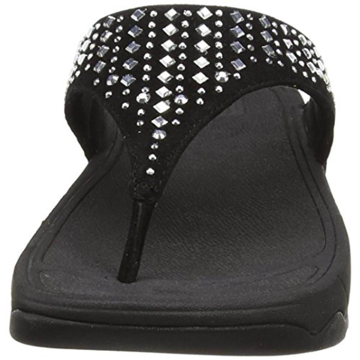 86ce6be5e Shop Fitflop Womens Novy Slide Sandals Rhinestones Thong - Free Shipping  Today - Overstock - 18612318