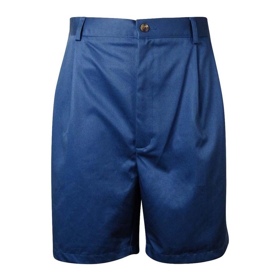 e3e659542e Shop Roundtree & Yorke Men's Big & Tall Pleated Shorts - Ships To Canada -  Overstock - 15015084