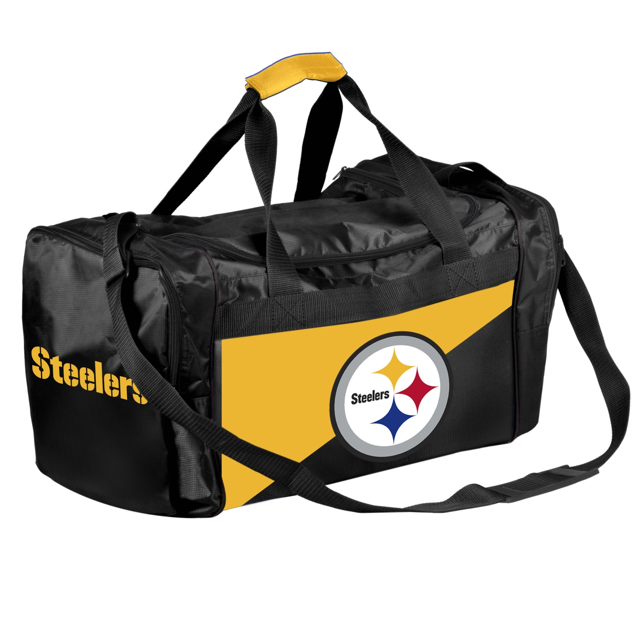 29a9caf74505 Shop Forever Collectibles Licensed NFL Two Tone Duffle Bags for Pittsburgh  Steelers - Free Shipping On Orders Over  45 - Overstock - 23613035