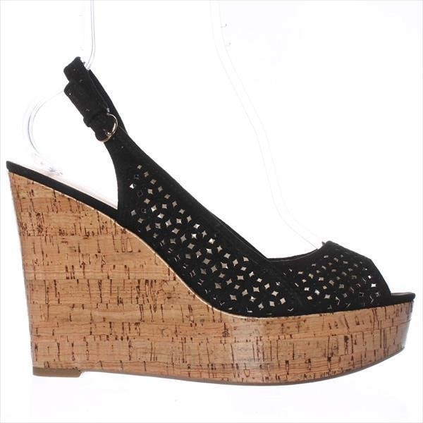 c56eae7d90 Shop Nine West Axey Wedge Pumps, Black Suede - On Sale - Free Shipping  Today - Overstock - 14011060