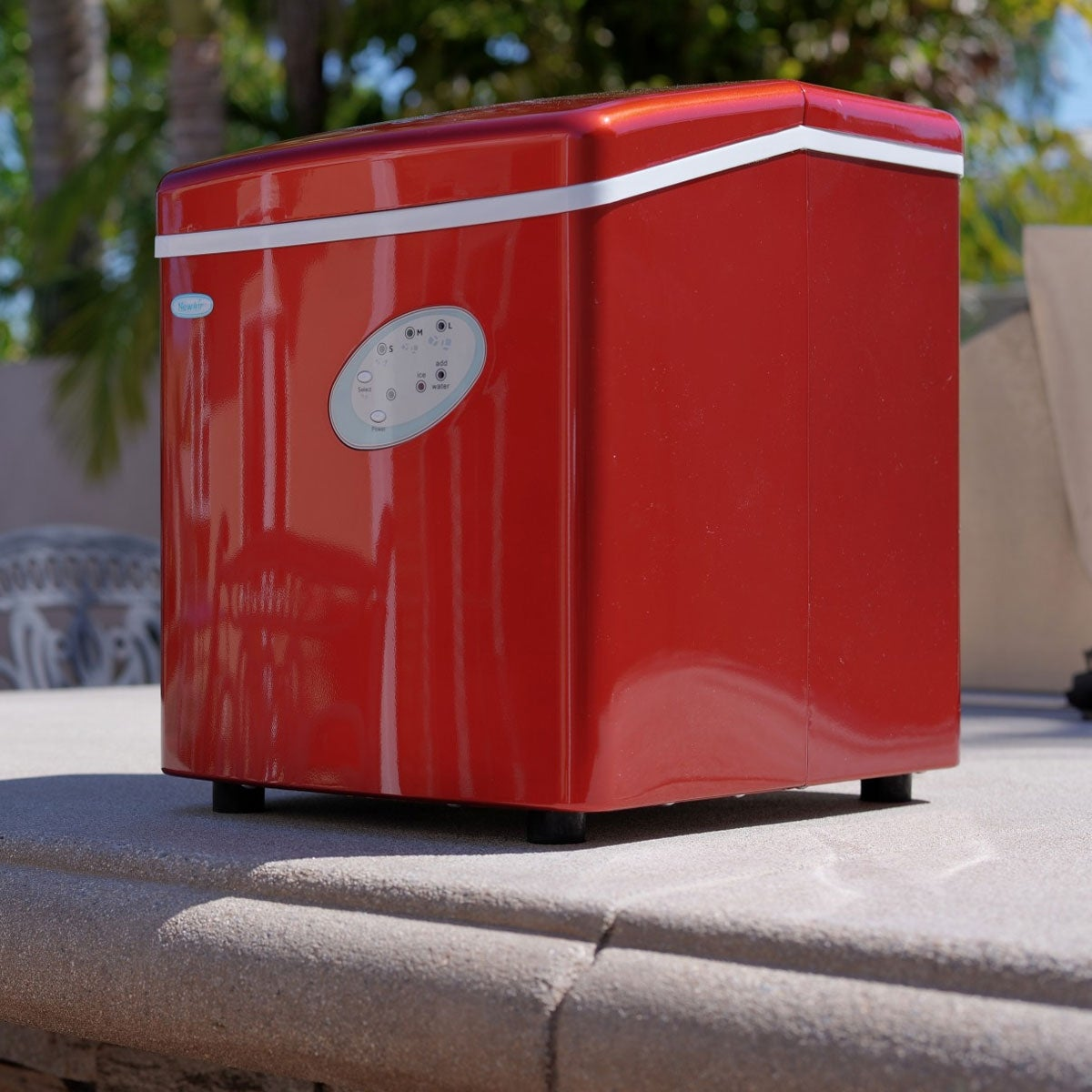 Gentil NewAir AI 100R 28 Pound Portable Ice Maker In Red   Free Shipping Today    Overstock   21184142