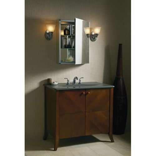 Kohler K Cb Clc2026fs 20 X 26 Single Door Reversible Hinge Frameless Mirrored Medicine Cabinet Silver Aluminum N A Free Shipping Today