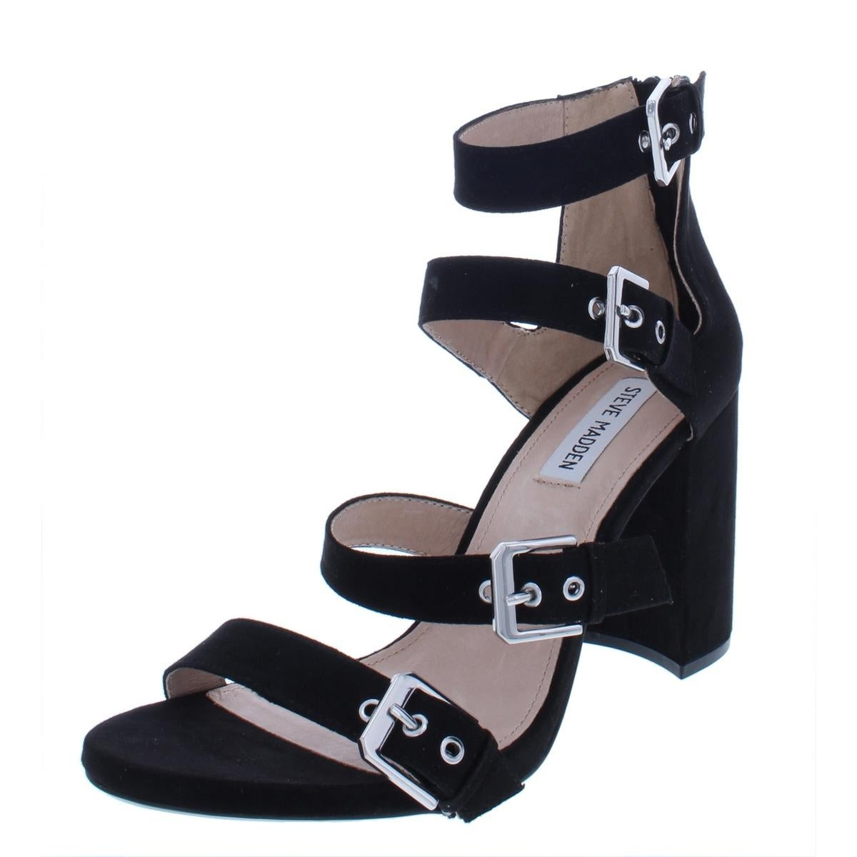 0dfd019bf994 Shop Steve Madden Womens Shani Dress Sandals Strappy Block Heel - 9.5 Medium  (B