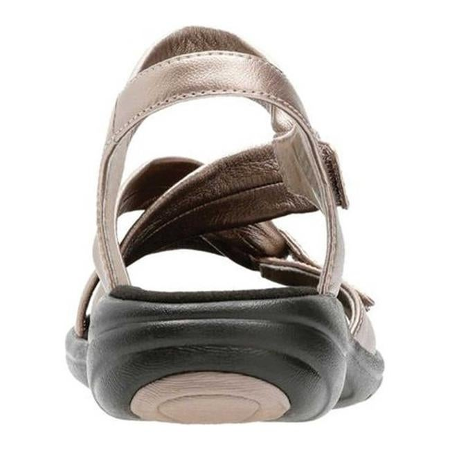 3baeb84174de2a Shop Clarks Women s Saylie Moon Strappy Sandal Pewter Metallic Full Grain  Leather - On Sale - Free Shipping Today - Overstock - 20590183