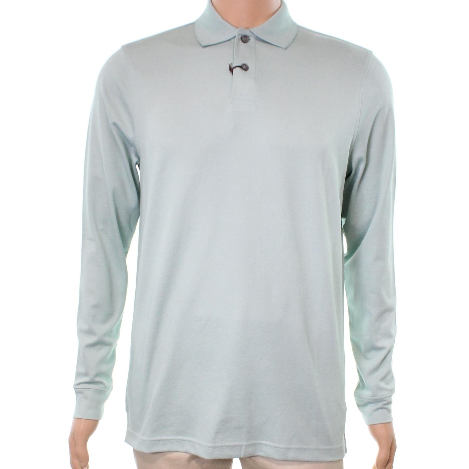Tasso Elba Green Gulfstream Mens Size Xl Longsleeve Polo Shirt