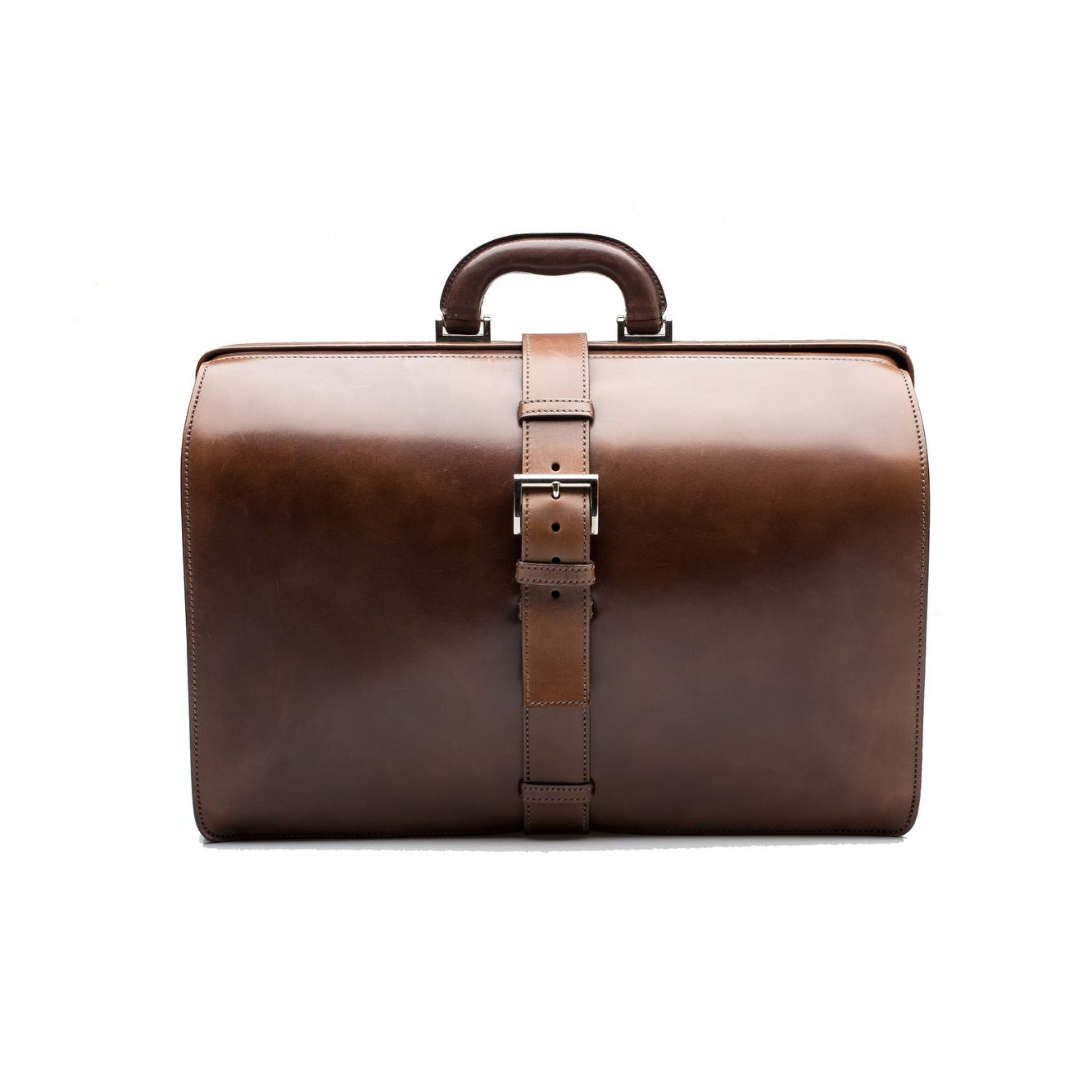 61d827aca Shop Prada Vintage Men's Women's Calf Leather Travel Suitcase Luggage Dark  Brown - M - Free Shipping Today - Overstock - 14477192