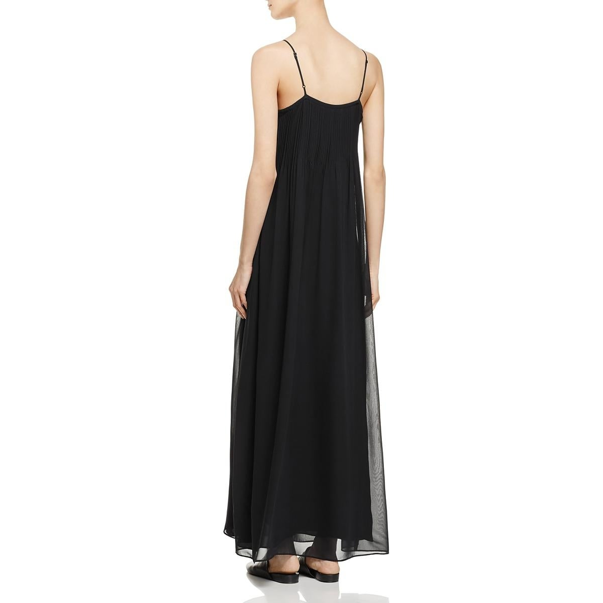 450e1505d3 Shop Vince Womens Maxi Dress Silk Pintuck - S - On Sale - Free Shipping  Today - Overstock - 25448520