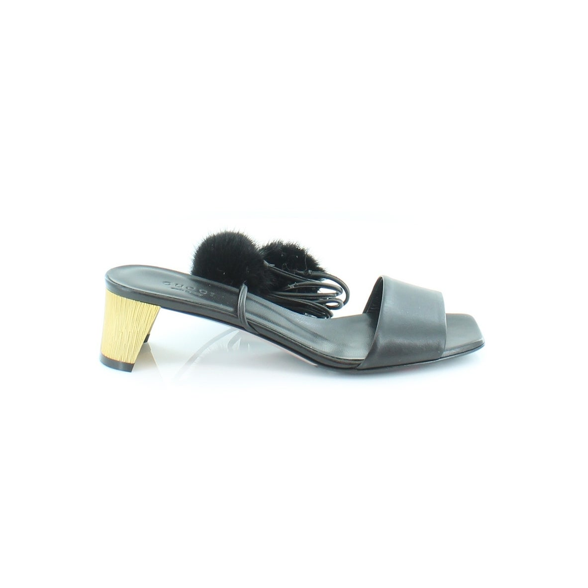 2dbf330cc57 Shop Gucci Heloise Sandal Women s Sandals Nero Nero - 6 - Free Shipping  Today - Overstock - 21553197