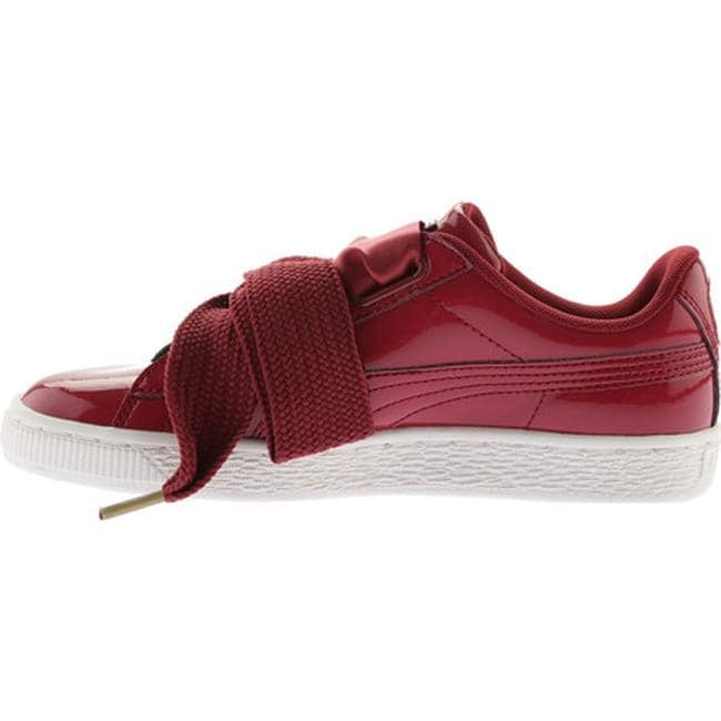 the best attitude 2c051 3e27b PUMA Women's Basket Heart Patent Sneaker Tibetan Red/Tibetan Red