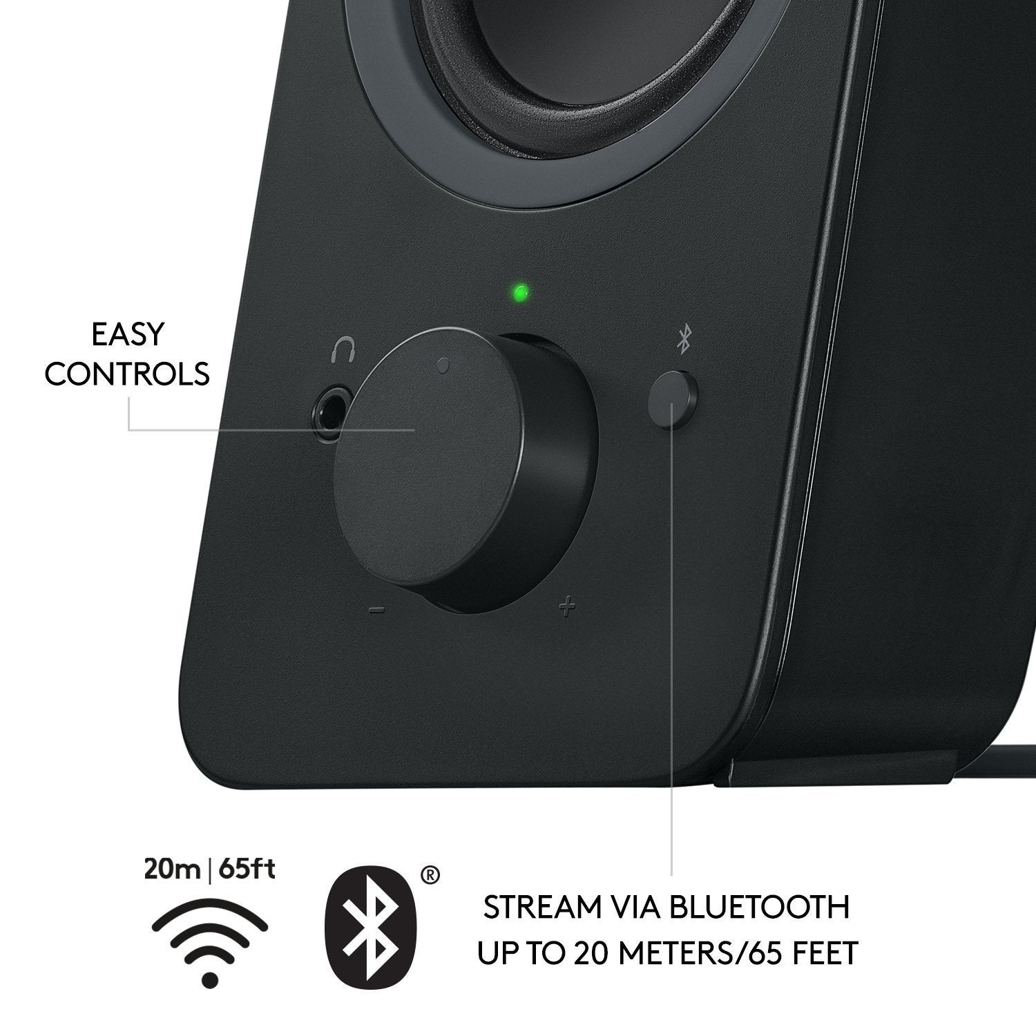 Shop Logitech Z207 20 Multi Device Stereo Speaker Black Multimedia Z213 Original 980 001294 Ships To Canada 19386117