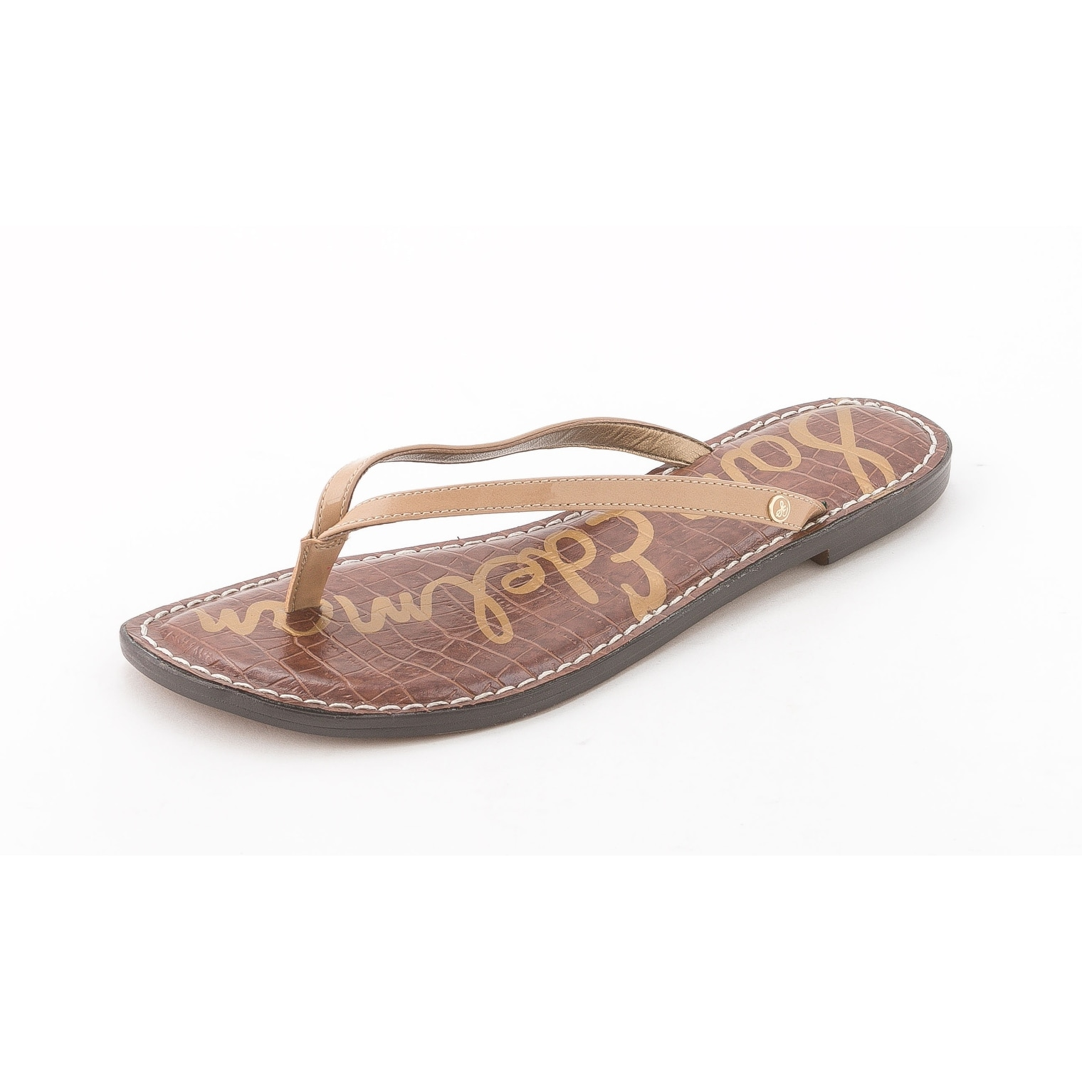5b5504f0c Shop Sam Edelman Women s Gracie Thong Sandal - Free Shipping On Orders Over   45 - Overstock - 14793503