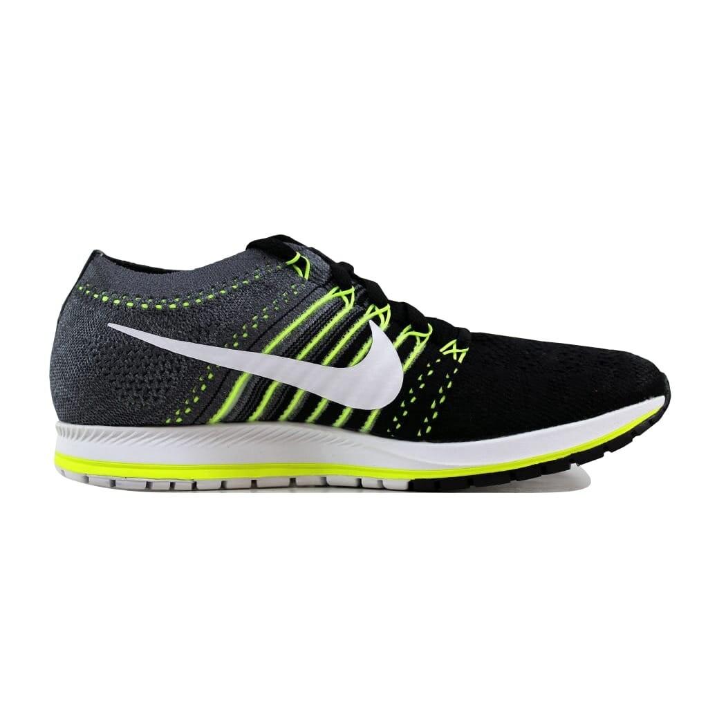reputable site 348db 5f834 Shop Nike Men s Flyknit Streak Black White-Dark Grey-Volt 835994-001 - Free  Shipping Today - Overstock - 21893454