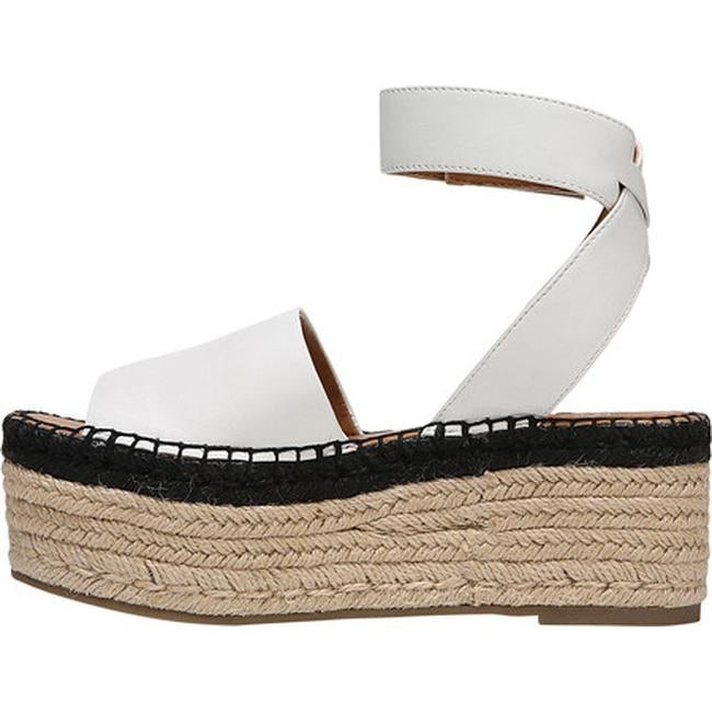 a5d4b1df436 Shop Sarto by Franco Sarto Women s Maisi Platform Sandal Blanca Leather - Free  Shipping Today - Overstock - 22863519
