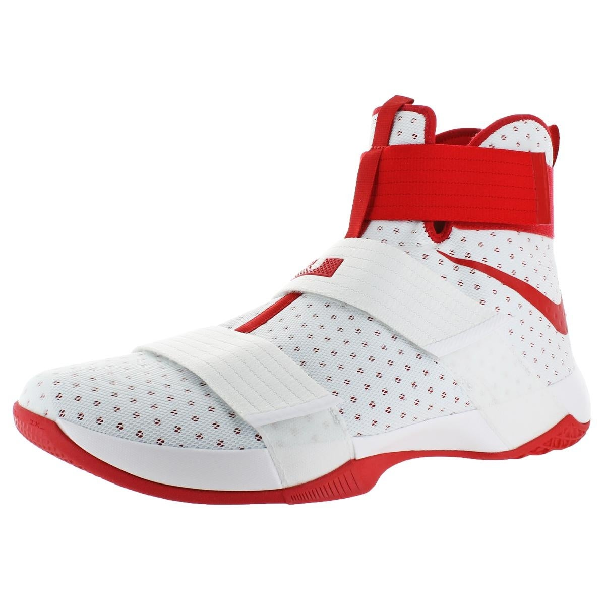 ff57260ad8308 Nike LeBron Soldier 10 Men s Mesh High-Top Basketball Shoes White Size 18 -  18 medium (d)