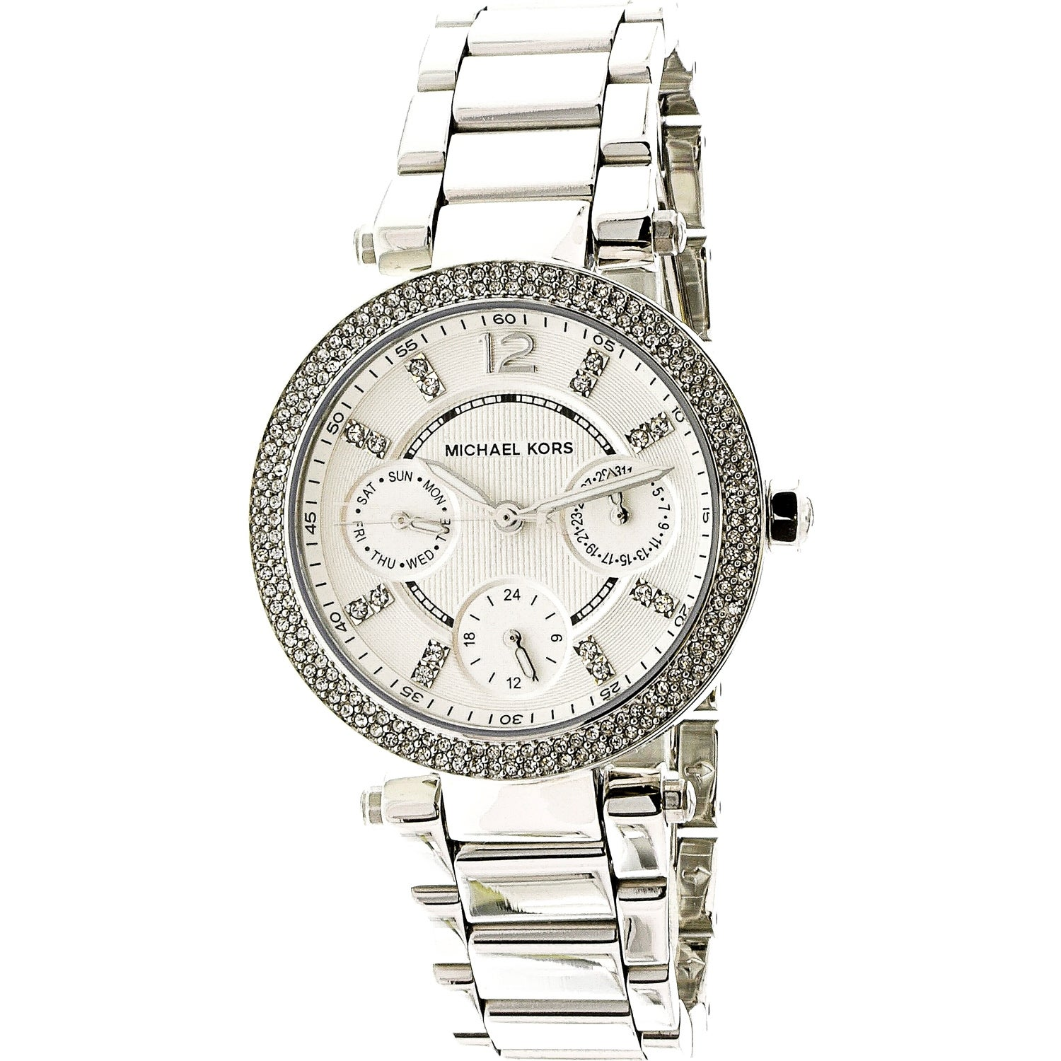 068fe47034e6 Shop Michael Kors Women s Parker Silver Stainless-Steel Fashion ...