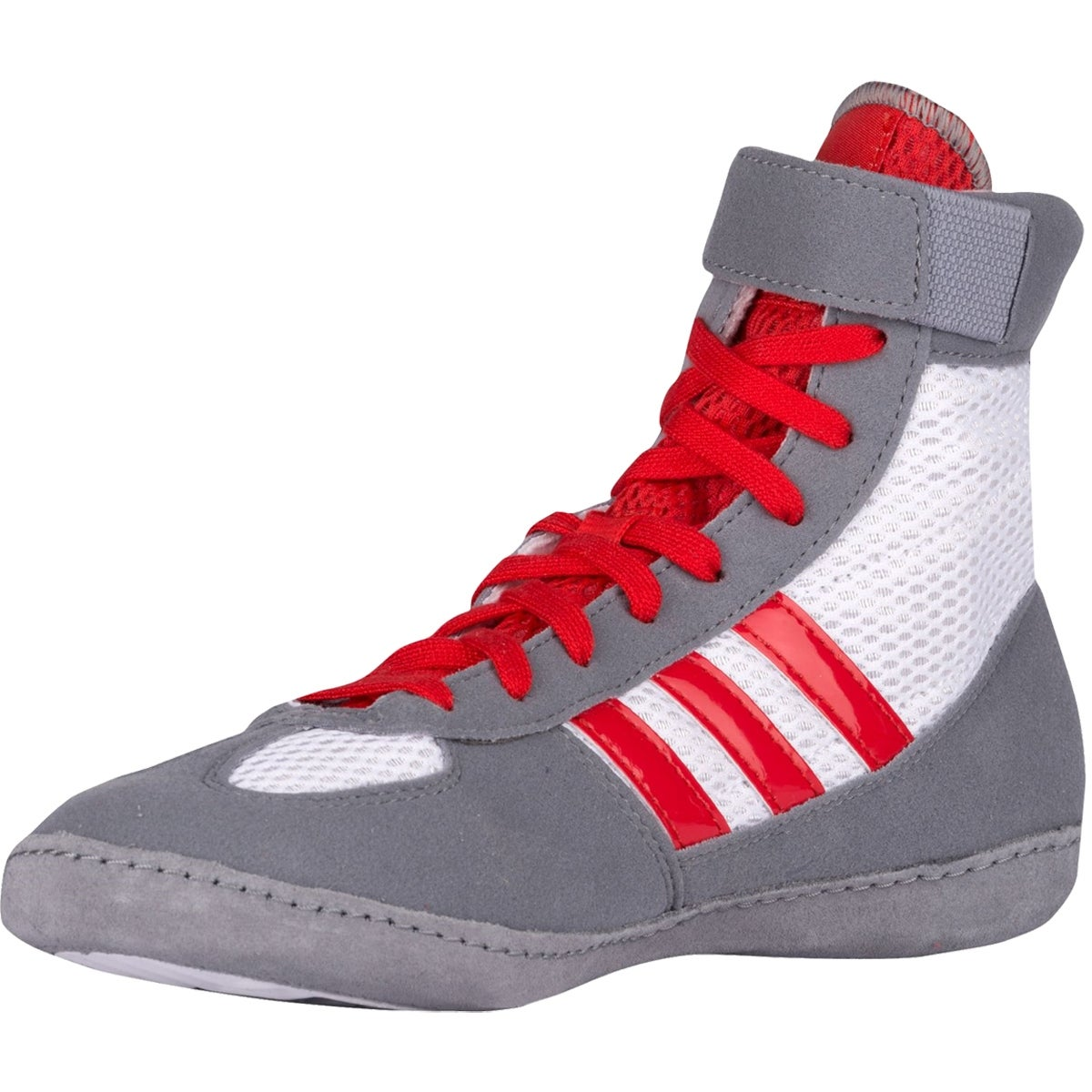 f5d3bb7313cb84 Shop Adidas Combat Speed 4 Youth Wrestling Shoes - White Red Gray - Free  Shipping Today - Overstock - 17847932