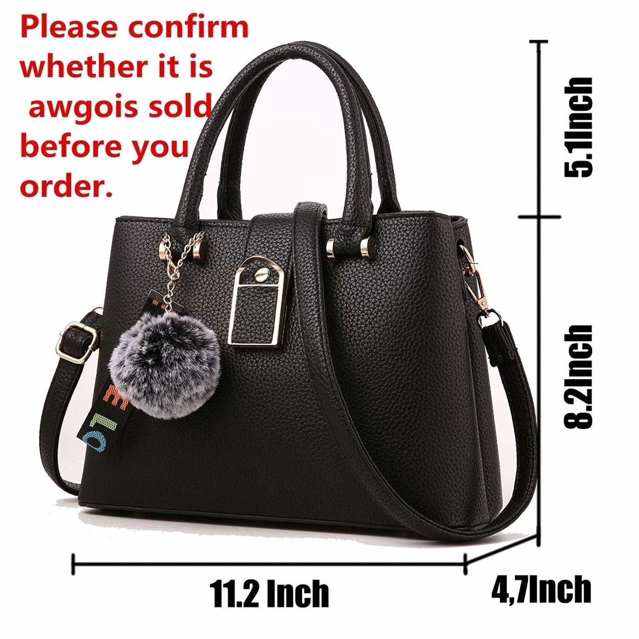 bf2727abdbbe6 Shop Purses and Handbags for Women Designer Shoulder Bags Ladies Tote Bags  Top Handle Satchel Messenger Bags - Free Shipping Today - Overstock -  23499274