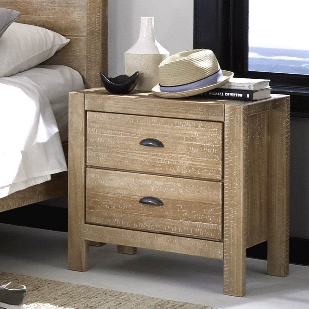 Montauk Solid Wood 2 Drawer Nightstand On Sale Overstock 20603190