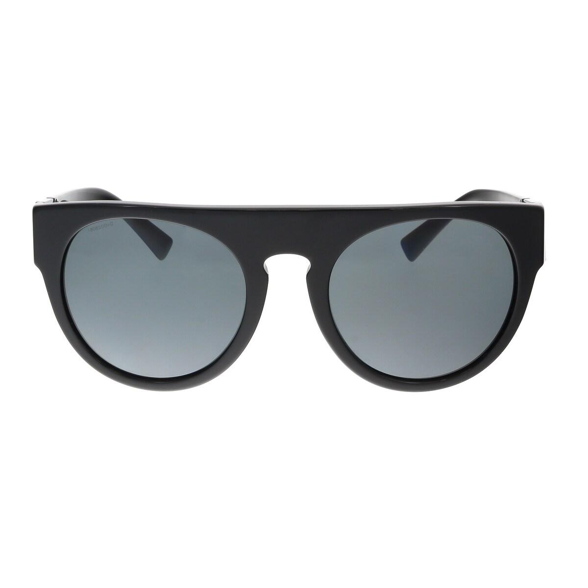 1c371aad76 Shop Versace VE4333 523287 Black Round Greca Sunglasses - Free Shipping  Today - Overstock - 15326314
