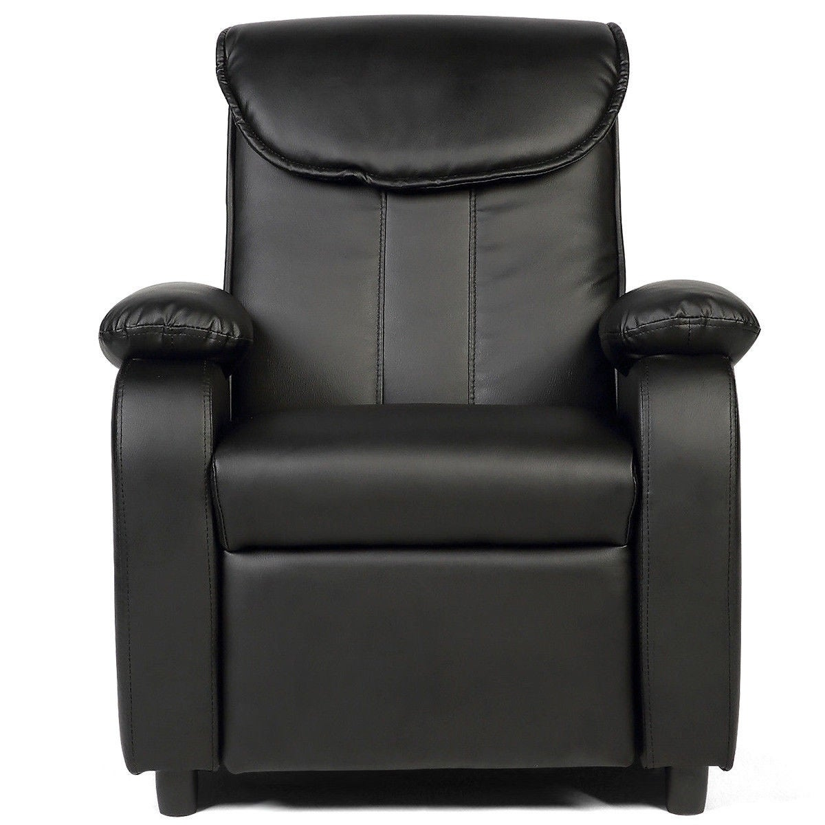 Shop costway kid recliner sofa armrest chair couch children living room furniture home black free shipping today overstock com 18878626
