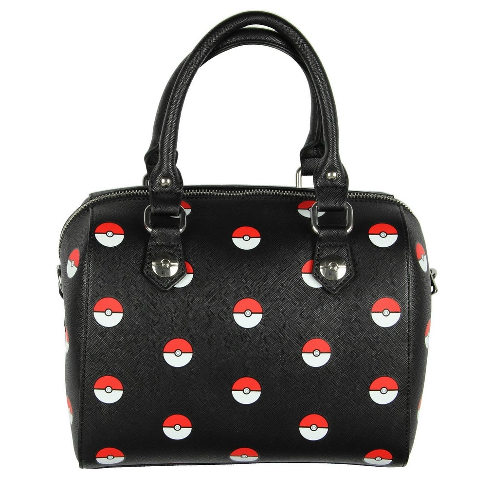 fba4a923f07 Shop Loungefly Pokemon Pokeball Print Black Duffle Purse - One Size Fits  most - Free Shipping Today - Overstock - 16994685