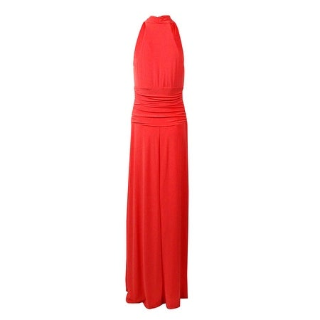 448fa8b18f7 Shop Nine West Women s Racerback V-Neck Maxi Jersey Dress - Free Shipping  On Orders Over  45 - Overstock - 15019240