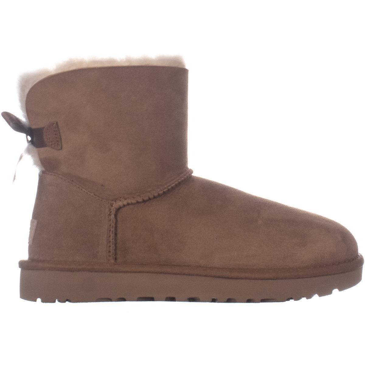 352f9c0b0ef UGG Mini Bailey Bow II Winter Boots, Chestnut - 7 US / 38 EU