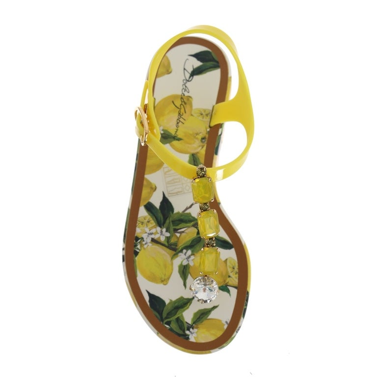 230e7d1bc Shop Dolce   Gabbana Lemon Crystal Beachwear Sandals - Free Shipping Today  - Overstock - 24569728