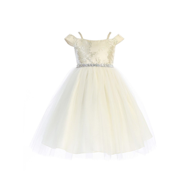 2db621444a54 Flower Girl Dresses Ivory And Gold - raveitsafe