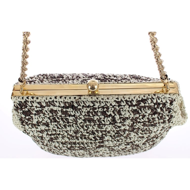 Shop Dolce   Gabbana MISS AGATA BAG Raffia Woven Shoulder Satchel - One  size - Free Shipping Today - Overstock - 16714960 775f36d27aa0e