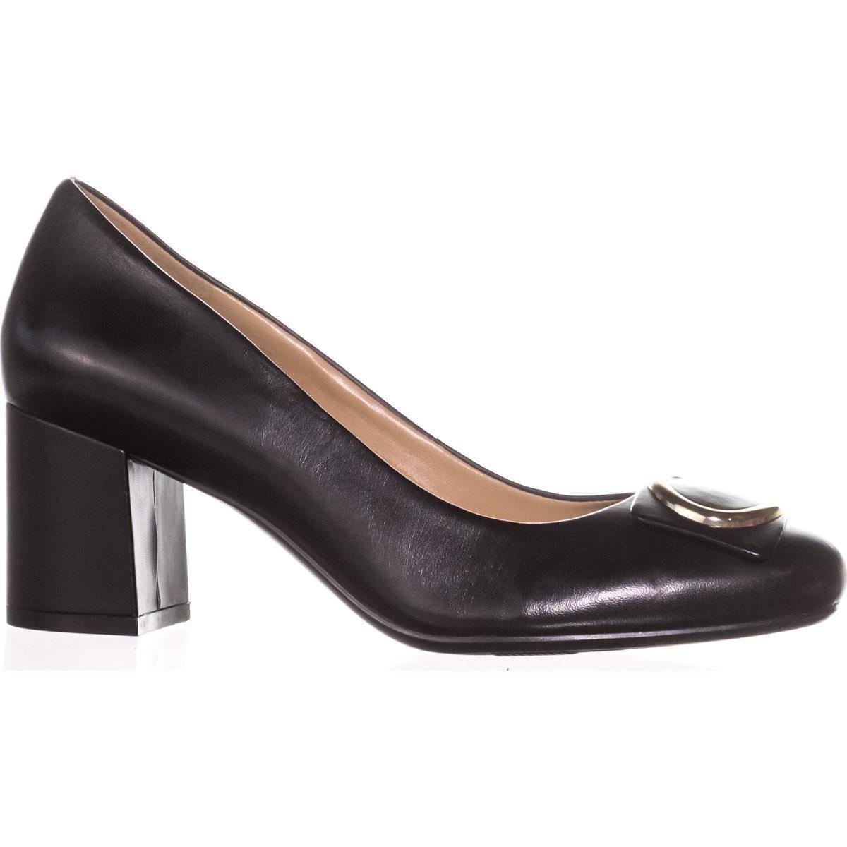 Naturalizer Wright Block Heel Pump(Women's) -Platina Leather Professional Online Newest Sale Online Genuine Sale Online byTtRDSY4