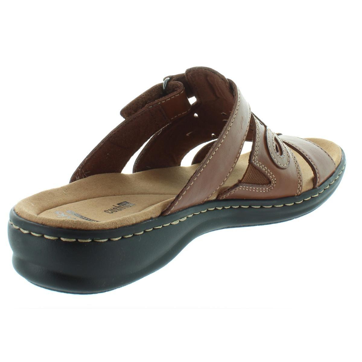 2e3f8f452a09 Shop Clarks Womens Leisa Higley Slide Sandals Leather Open Toe - 10 medium  (b