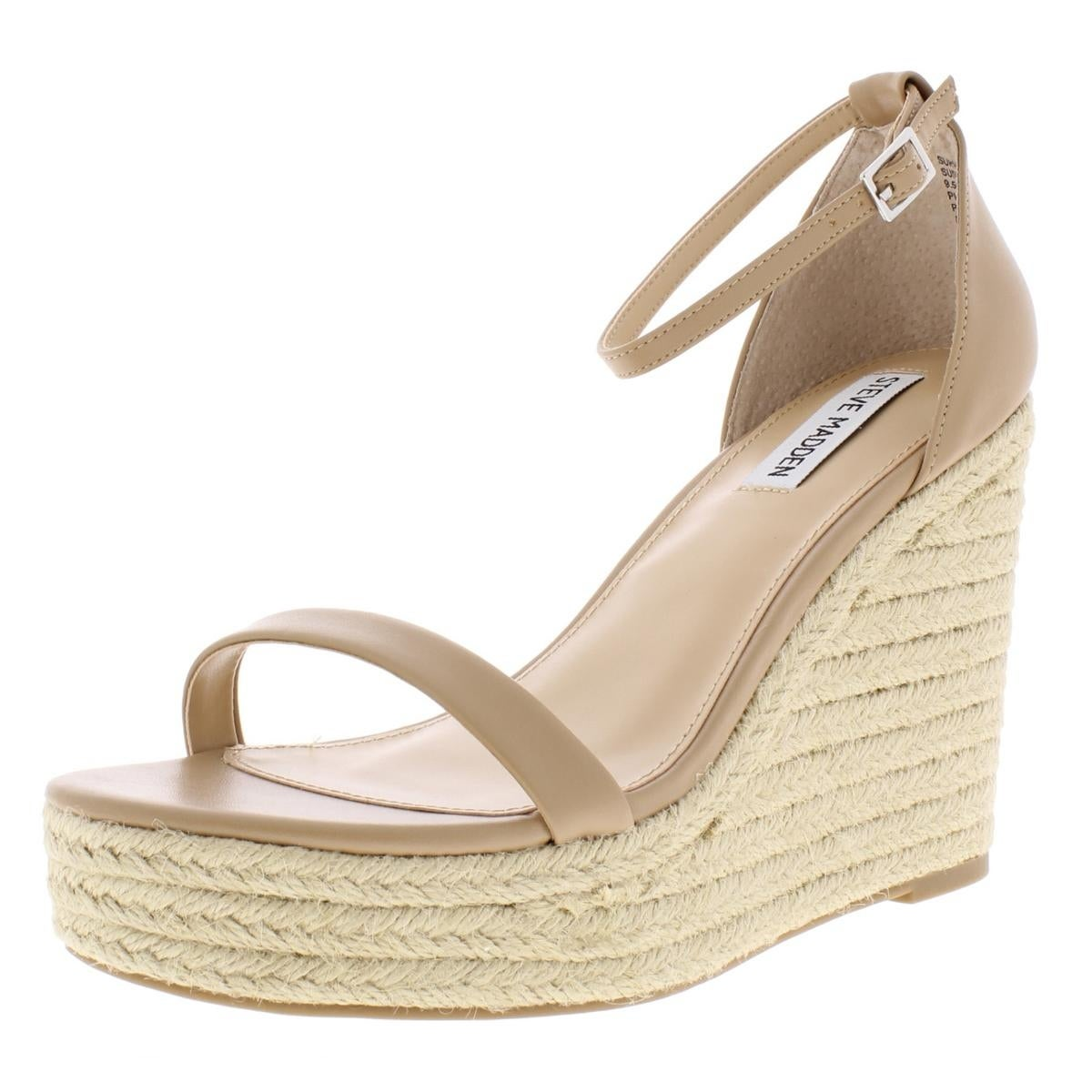 1bd9d6bd2ad Steve Madden Womens Survive Wedges Padded Insole Espadrille