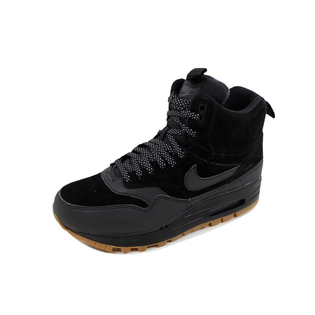 huge discount 3f64a f05f6 Nike Women s Air Max 1 Mid Sneakerboot Black Black-Gum Medium Brown  685267-003