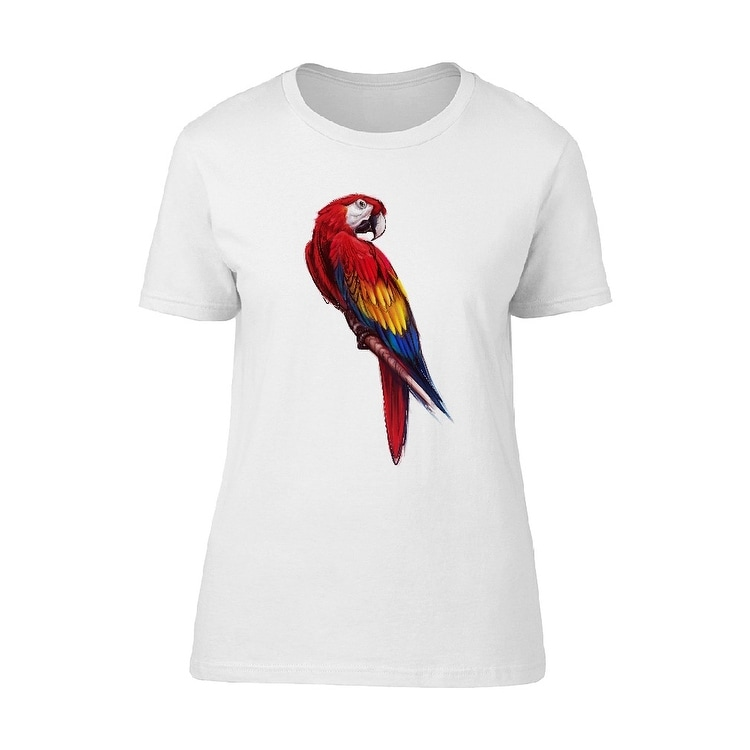 99c0be26 Shop Cute Red Parrot Tee Women's -Image by Shutterstock - Free Shipping On  Orders Over $45 - Overstock - 21805570