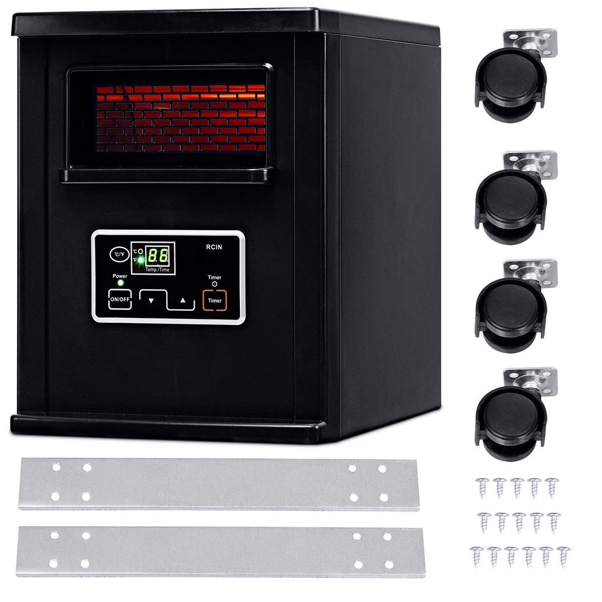 1500W Electric Portable Infrared Quartz Space Heater Remote