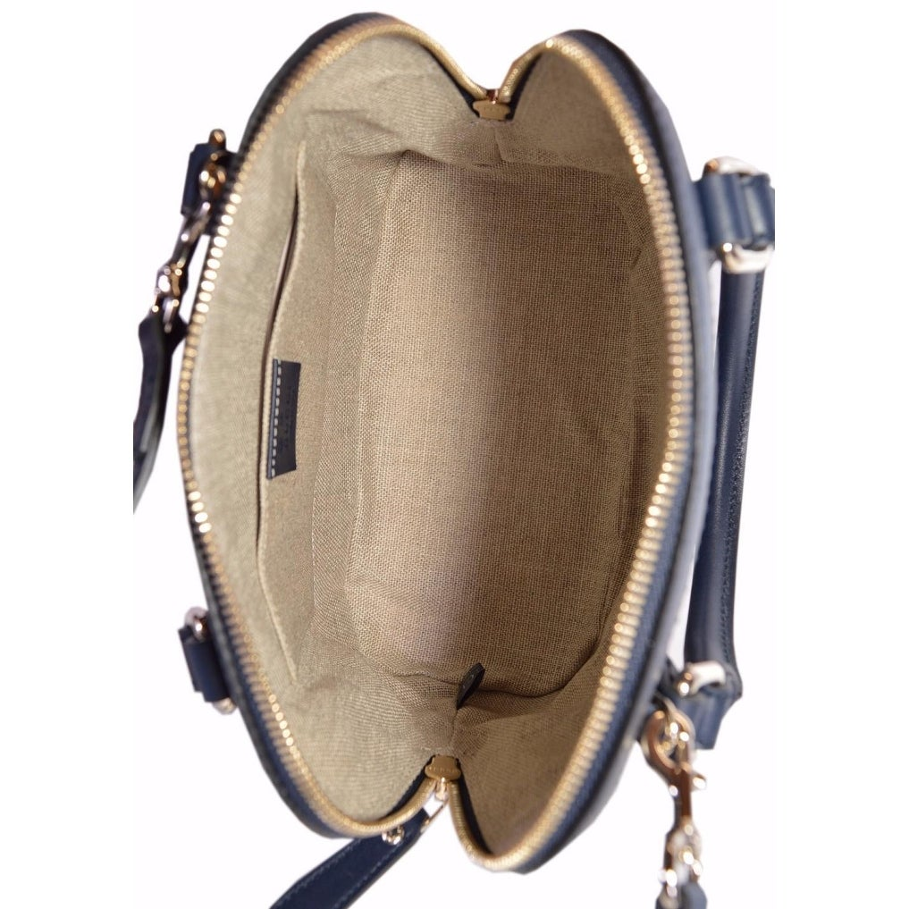 9c1613911686 Shop Gucci 449654 Micro GG Dark Blue Leather Convertible Mini Dome Purse -  Free Shipping Today - Overstock - 20551475