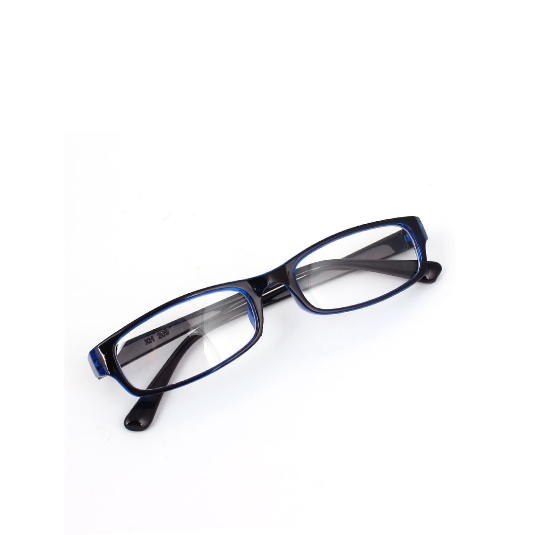 f6230ef2b63 Shop Unique Bargains Ladies Black Blue Plastic Full Frame Clear Lens Plain  Glasses Eyeglasses - Free Shipping On Orders Over  45 - Overstock - 18340147