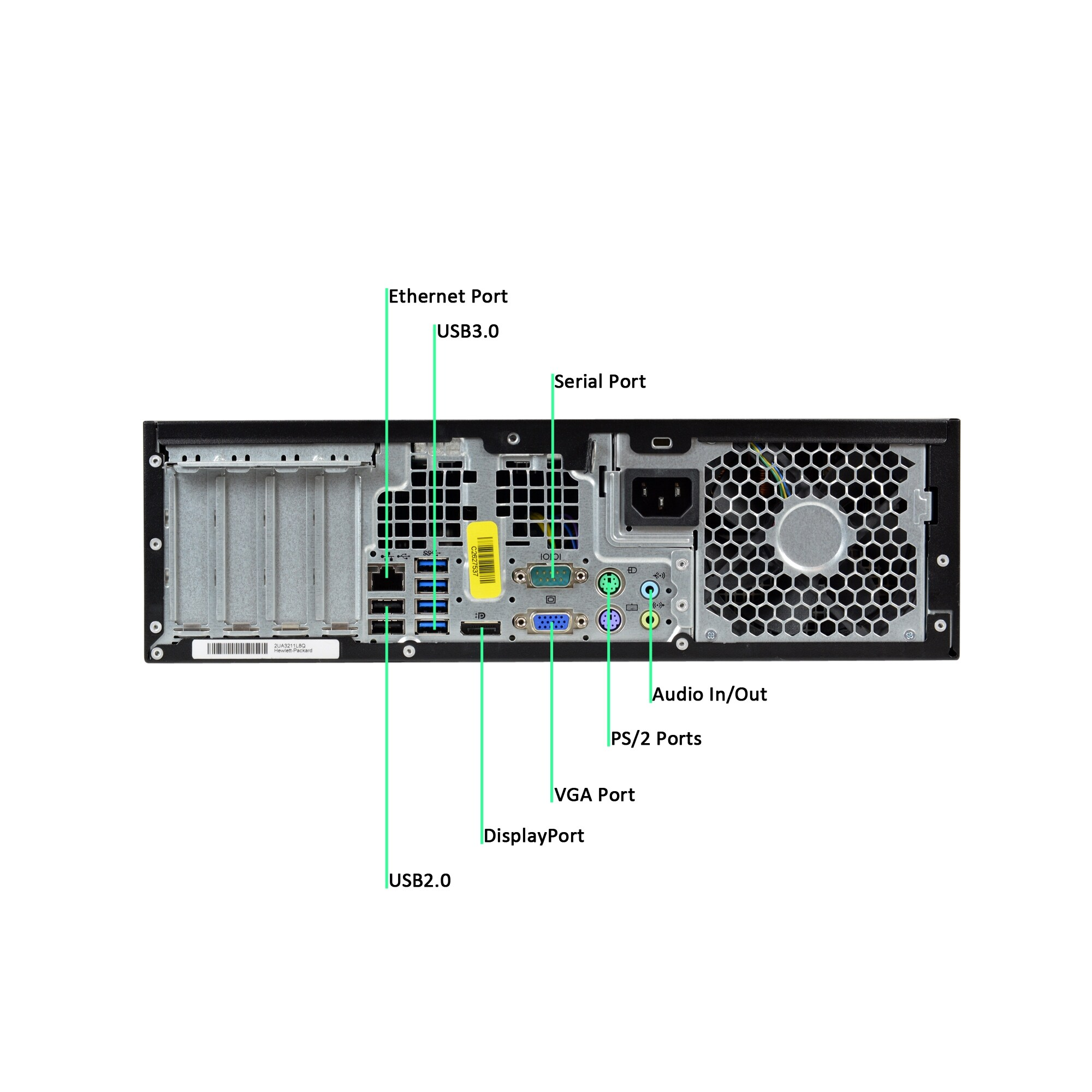 HP Z220-SFF Core i5-3470 3 2GHz 3rd Gen CPU 8GB RAM 500GB HDD Windows 10  Pro Computer (Refurbished)