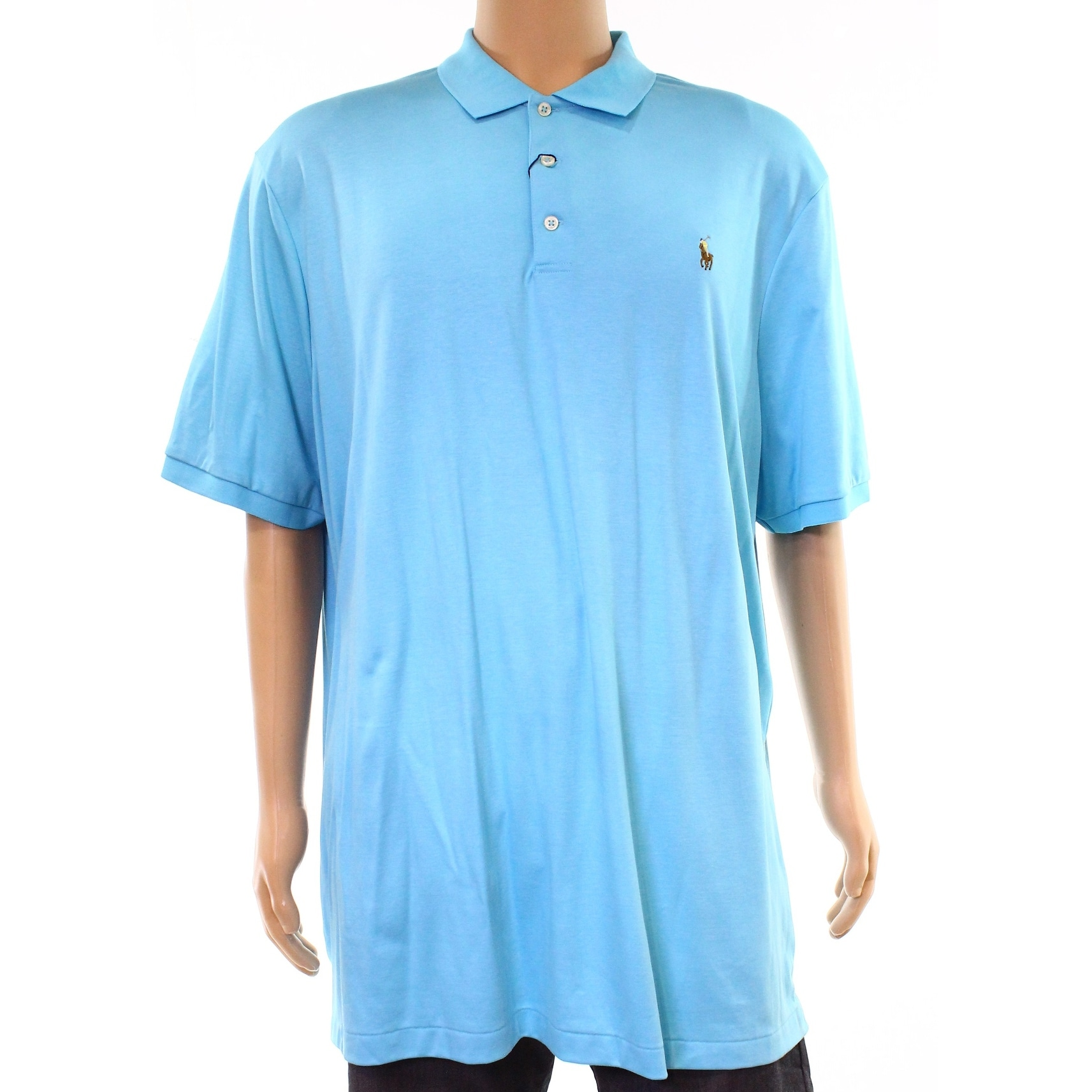 Shop Polo Ralph Lauren True Aqua Blue Men Size 2xl Classic Fit Polo