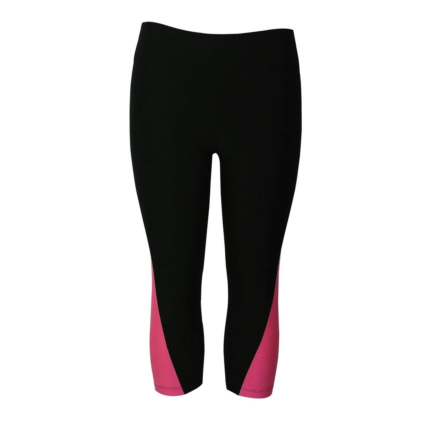 2951f791f2ac5 Shop Women's Athletic Fitness Sports Yoga Pants Capri Small-Medium/ Black-Pink - On Sale - Free Shipping On Orders Over $45 - Overstock -  12355409